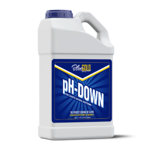 Blue Gold PH Down 1 Gallon 0.0 – 0.3 PH Non Caustic Concentrate For All Pro/General Hydroponics Systems, Nutrient Reservoir Tanks, Aquaponics.