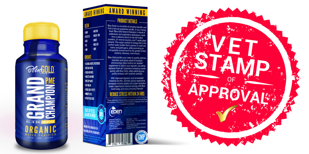 Vets Love Blue Gold™ Grand Champion PME Animal Nutritional Supplement!