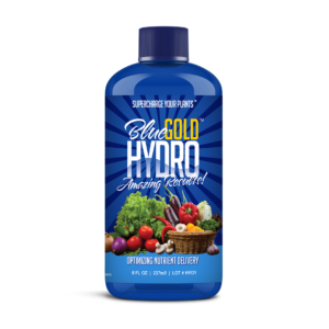 Blue Gold Hydro Natural NOP Compliant 6.4 PH DWC/Hydroponic Nutrients Plant Food Flower Food. Guaranteed Results. Fuzzy White Root Growth. Natural Pest Control. Reduce Root Rot Fertilizer. No Gunking.